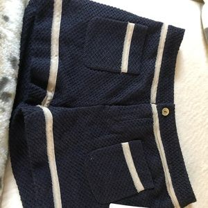 Rachel Roy navy with tan trim shorts